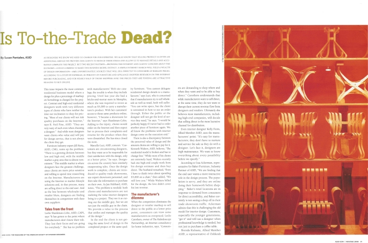 ASID Icon Is To the Trade Dead by Susan Pantaleo Bower