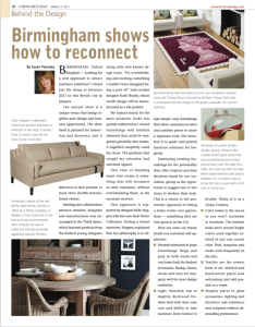 Furniture Today UK Interiors Show Report Author Susan Pantaleo Bower for Furniture Today