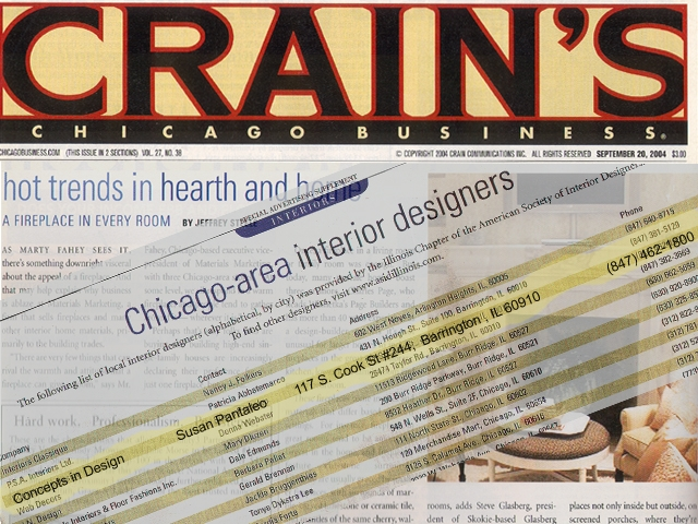 Listed in Crain's Chicago Business