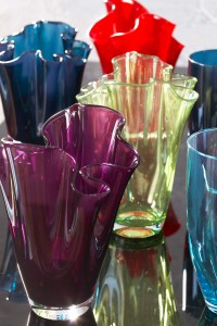 The Ruffled Glass Vases from Tesco UK would add fashion flair to the tabletop.