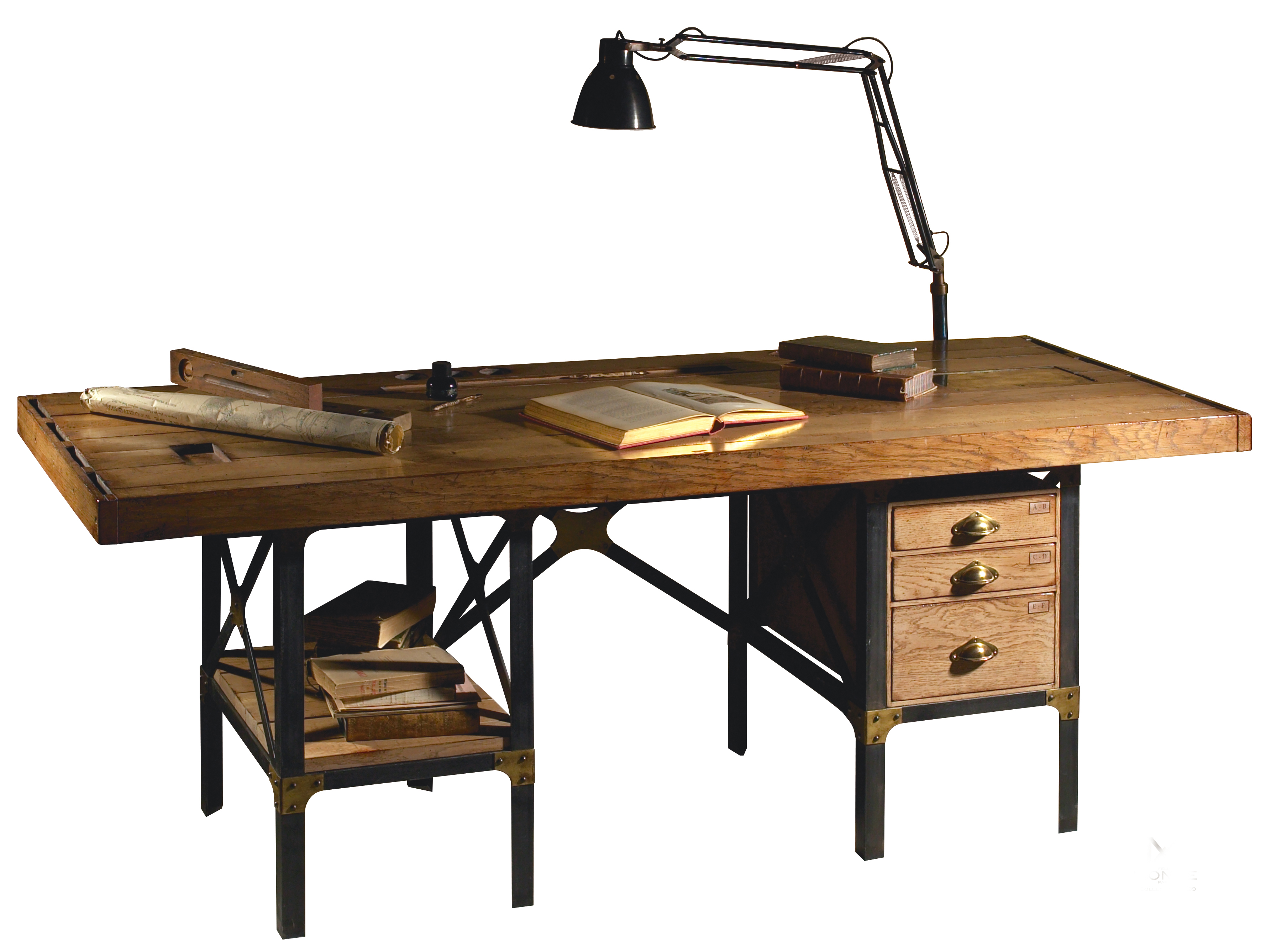 French Heritage Watchmakers Desk Industrial Chic