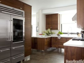 Smallbone kitchen features floating cabinets for a furnished look.  via House Beautiful