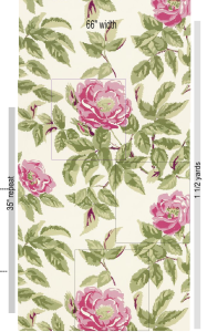 Manor Rose pattern layout